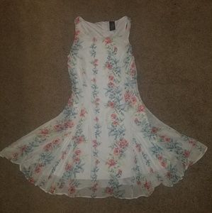Small white and floral dress